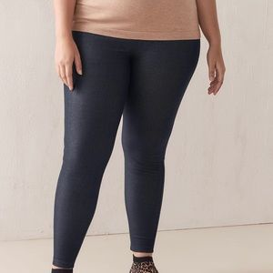 Solid Denim Leggings with Elastic Waistband - Size 10/12 - Plus Size, Jeggings